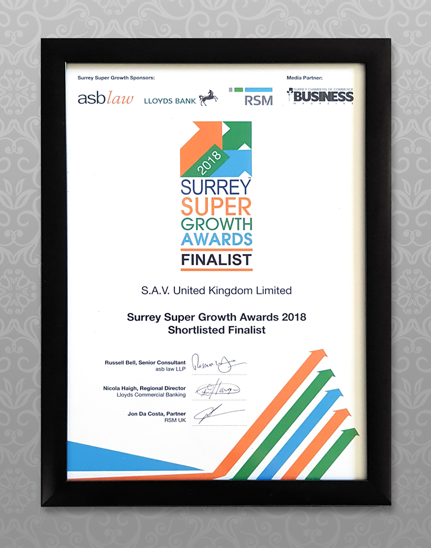 SAV Surrey Super Growth Awards